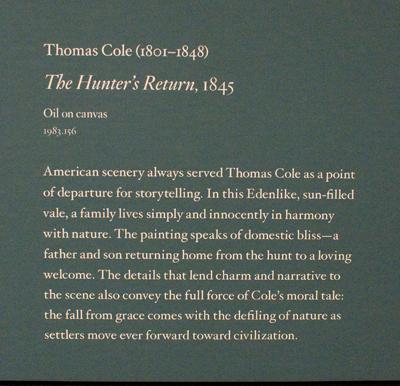 "painting ""The Hunter's Return"""