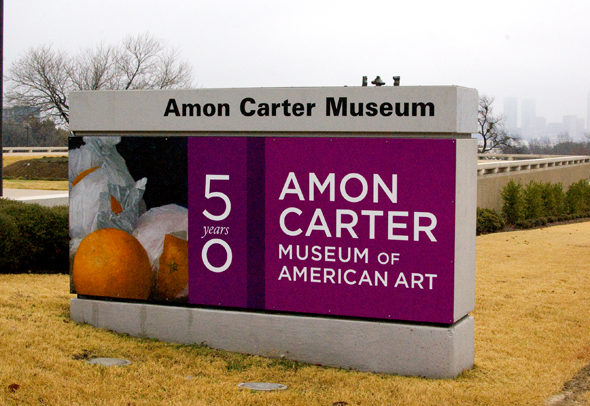 Amon Carter museum sign