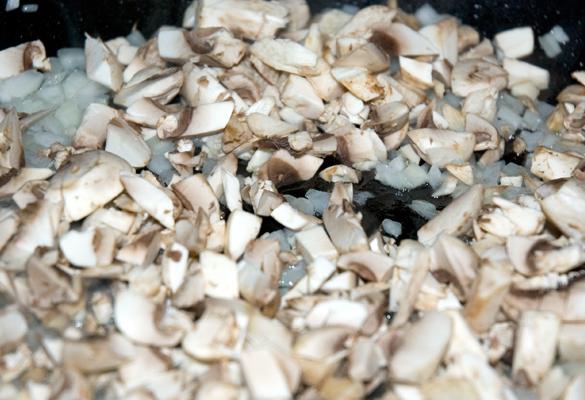 mushrooms cooking