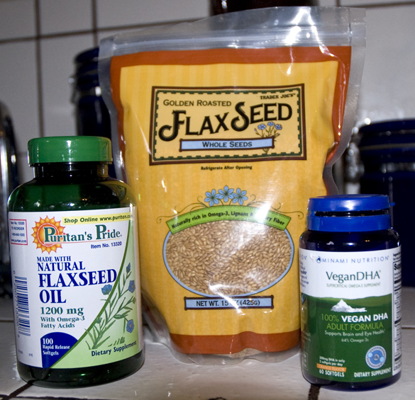 vegan flaxseed and omega 3 tablets