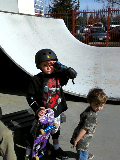 Hunter & Westly at skateboard park