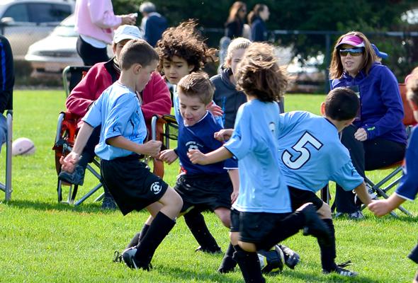 Hunter's soccer game 2012