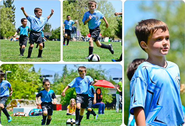 Hunter as a soccer star