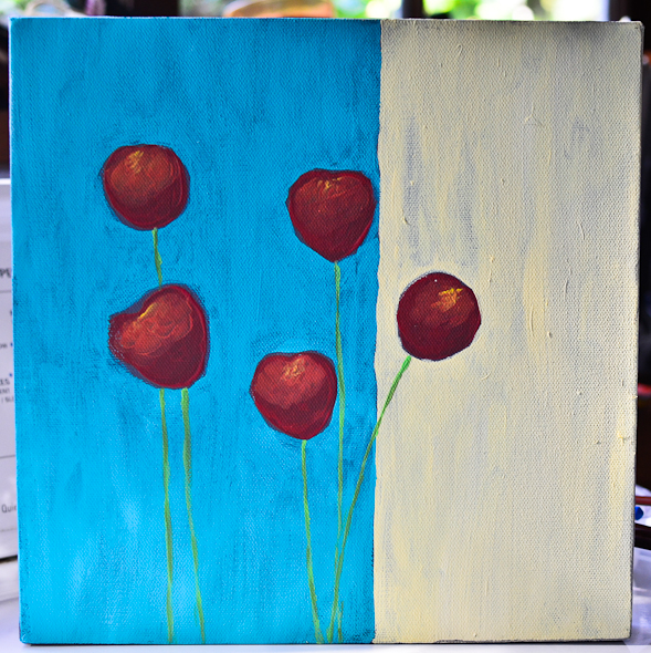 red poppies canvas