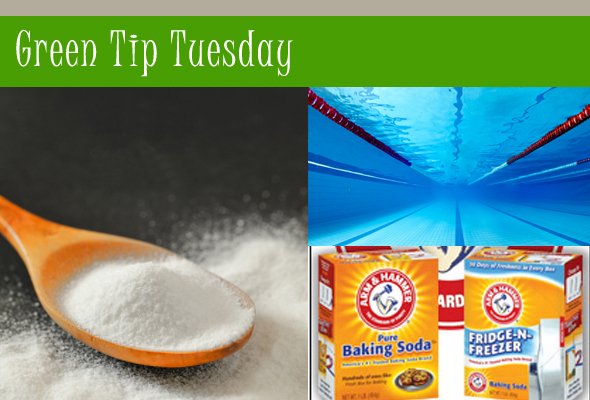 Green Tip for removing chlorine from hair using baking soda