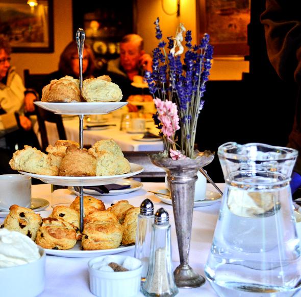 scones and tea at Yew Tree Farm