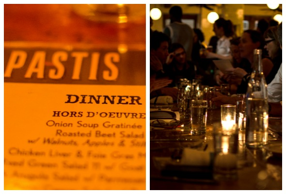 Pastis Dinner NYC