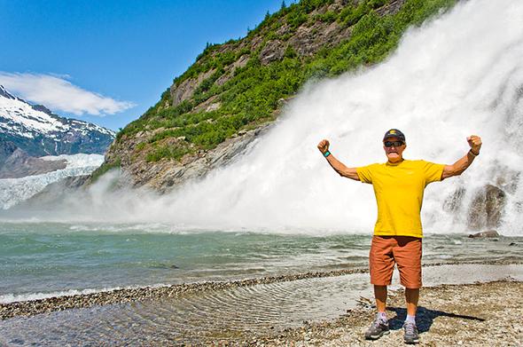 Mendenhall Glacier Waterfall