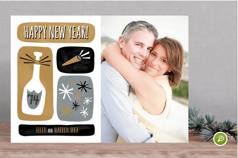 minted new year card
