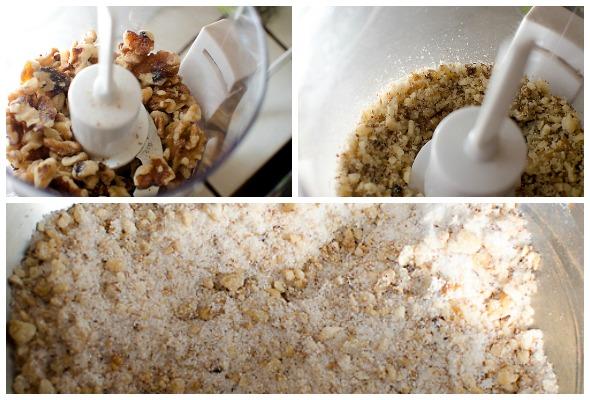 Nuts, sugar and cinnamon