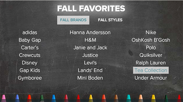 School Fall Favorites