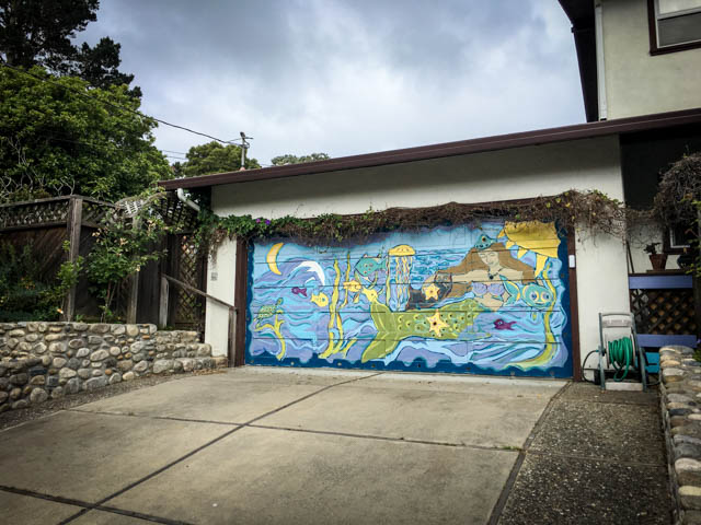 painted garage door in Pacific Grove
