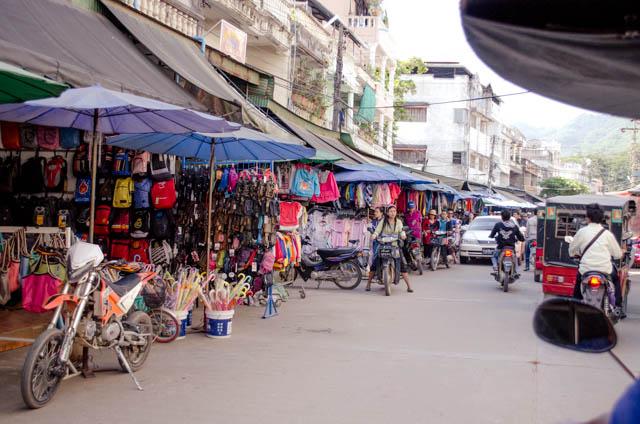 Myanmar street market