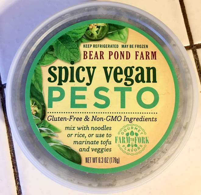 Bear Pond Farm spicy vegan pesto