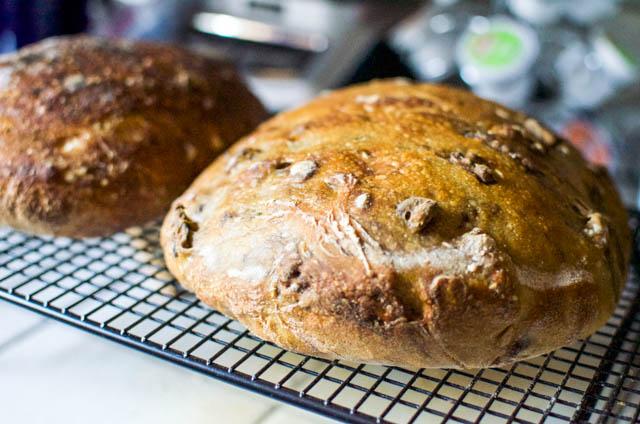 homemade bread baked in June