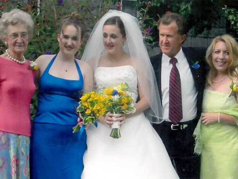 Jim's daughter Libby's wedding
