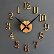Modern Diy Wall Clock Face Metal Watch Art Designs Digital Numbers Home Bedroom Mute