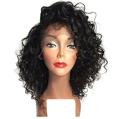 top short natural black color bob afro curly lace front wigs heat resistant synthetic hair