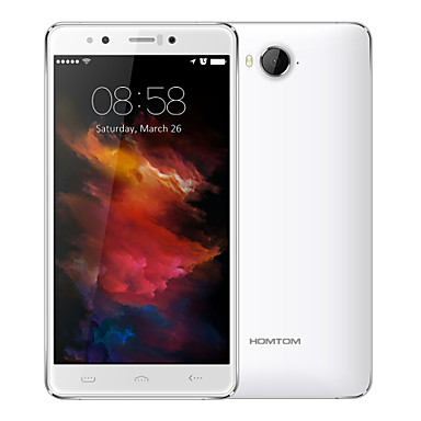 """HOMTOM® HT10 5.5"""" Android 6.0 (10 Cores 21 MP 4GB + 32 GB Black / White The Iris Recognition Technology Global 4G)"""
