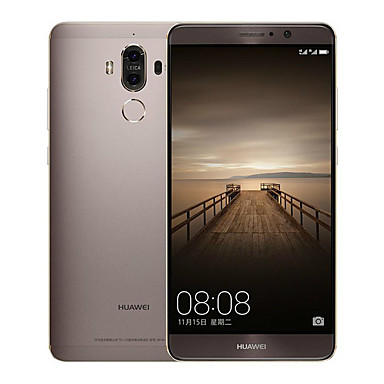 "Huawei Mate 9 5.9 "" Android 7.0 4G Smartphone (Dual SIM Octa Core 12 MP 20 MP 6GB + 128 GB Gold White Brown)"