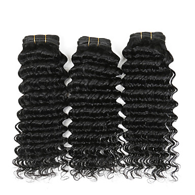 4 pcs lot 100g piece 8 26 indian curly remy hair weave natural black deep wave cheap human