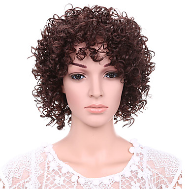 short afro curly wave hair auburn color synthetic wigs for women 2016 12 87