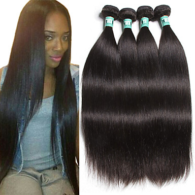 4 pcs lot 8 30 peruvian virgin hair straight human hair extensions 100 unprocessed peruvian