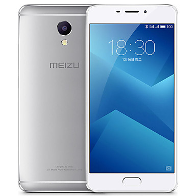 "MEIZU Note 5 5.5 "" Flyme OS 4G Smartphone (Dual SIM Octa Core 13 MP 3GB + 16 GB Silver)"