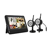 """NUEVA inalámbrico de 4 canales DVR Quad 2 Cámaras con 7 sistema de seguridad Monitor de TFT-LCD Home """""""