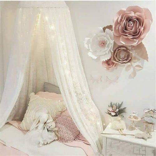 ciels de lit avec moustiquaire rideaux de lit fille