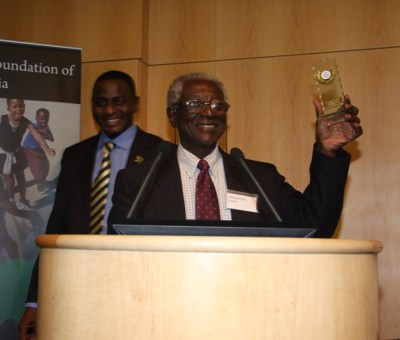 Adetokunbo Lucas, researcher, recognized in London