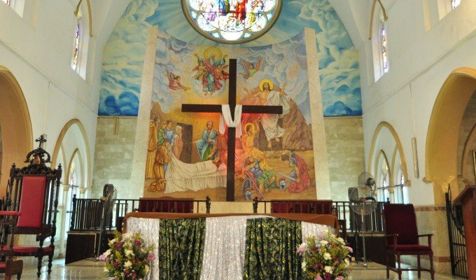 Christianity as a religion revolves around the person of Christ here celebrated in the altar of the Holy Cross Cathedral in Lagos.