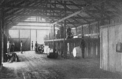 Palm oil factor interior, Old Calabar, 1800s
