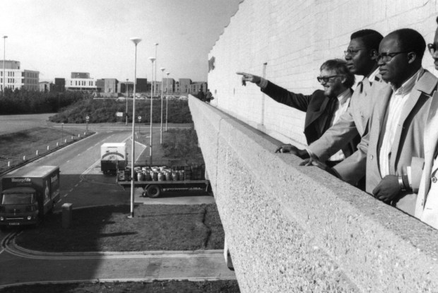 Nigerian town planners at a session in Washington in the 1970s.