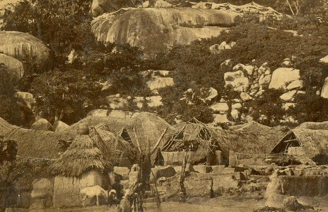 Egba history in Abeokuta started in this street next to Olumo rock, pictured here in 1826