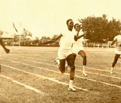 EBHS during one of the inter-house sports in the 50s