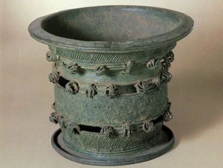 Leaded bronze bowl, dated 900-1000 AD.
