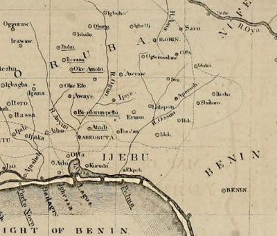 Ijaye here appearing at the middle of this map of Yoruba kingdoms in South West Nigeria ceased to exist after the war.