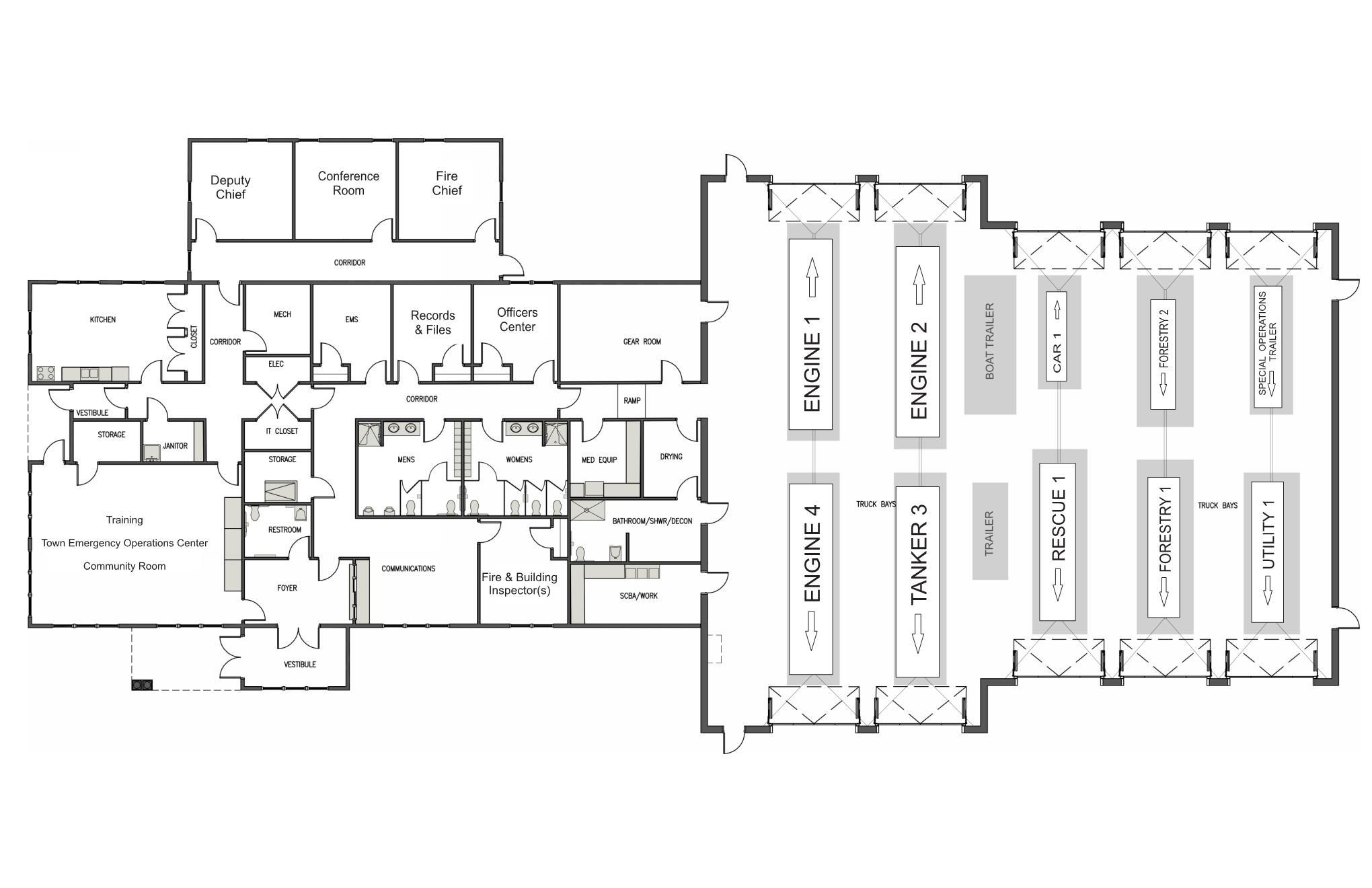 Old Firehouse Floor Plans