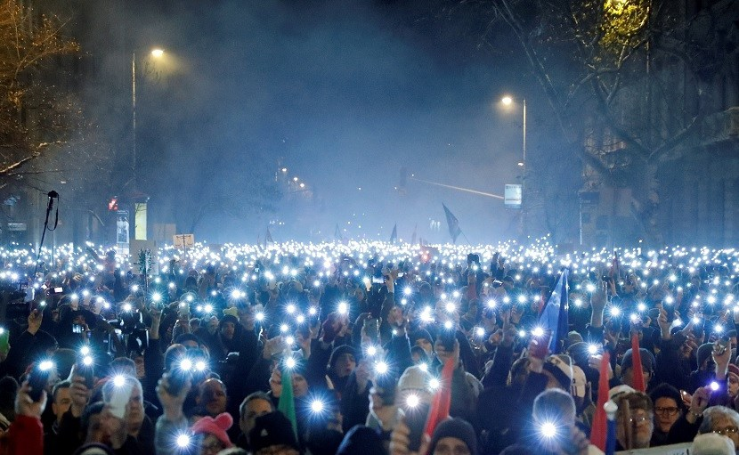 Protests in Hungary Increase