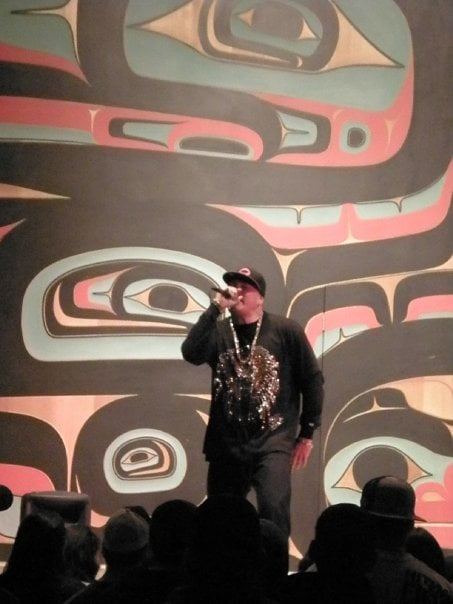 Litefoot in Alaska rapping