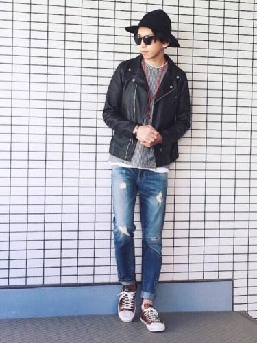 <ユニクロ>メンズダメージジーンズが凄い!女子も履いちゃう人気デニム