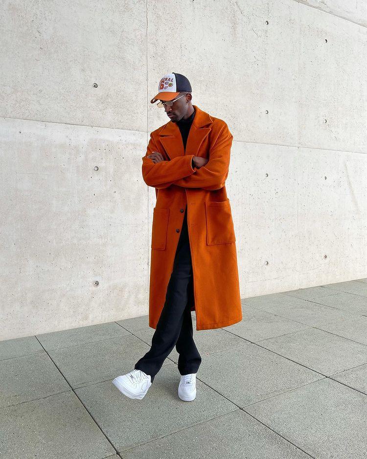 30代メンズに似合うオレンジコーデ