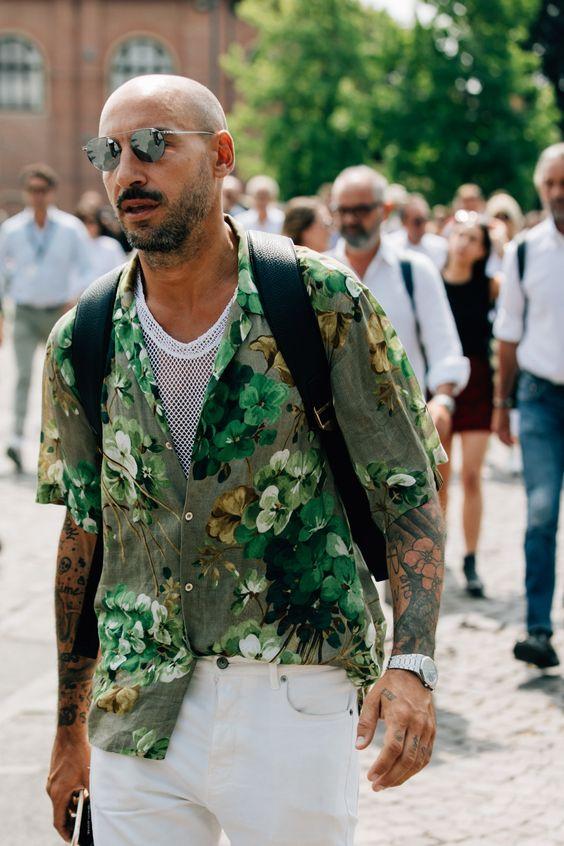 30代40代メンズに似合う半そでシャツコーデ