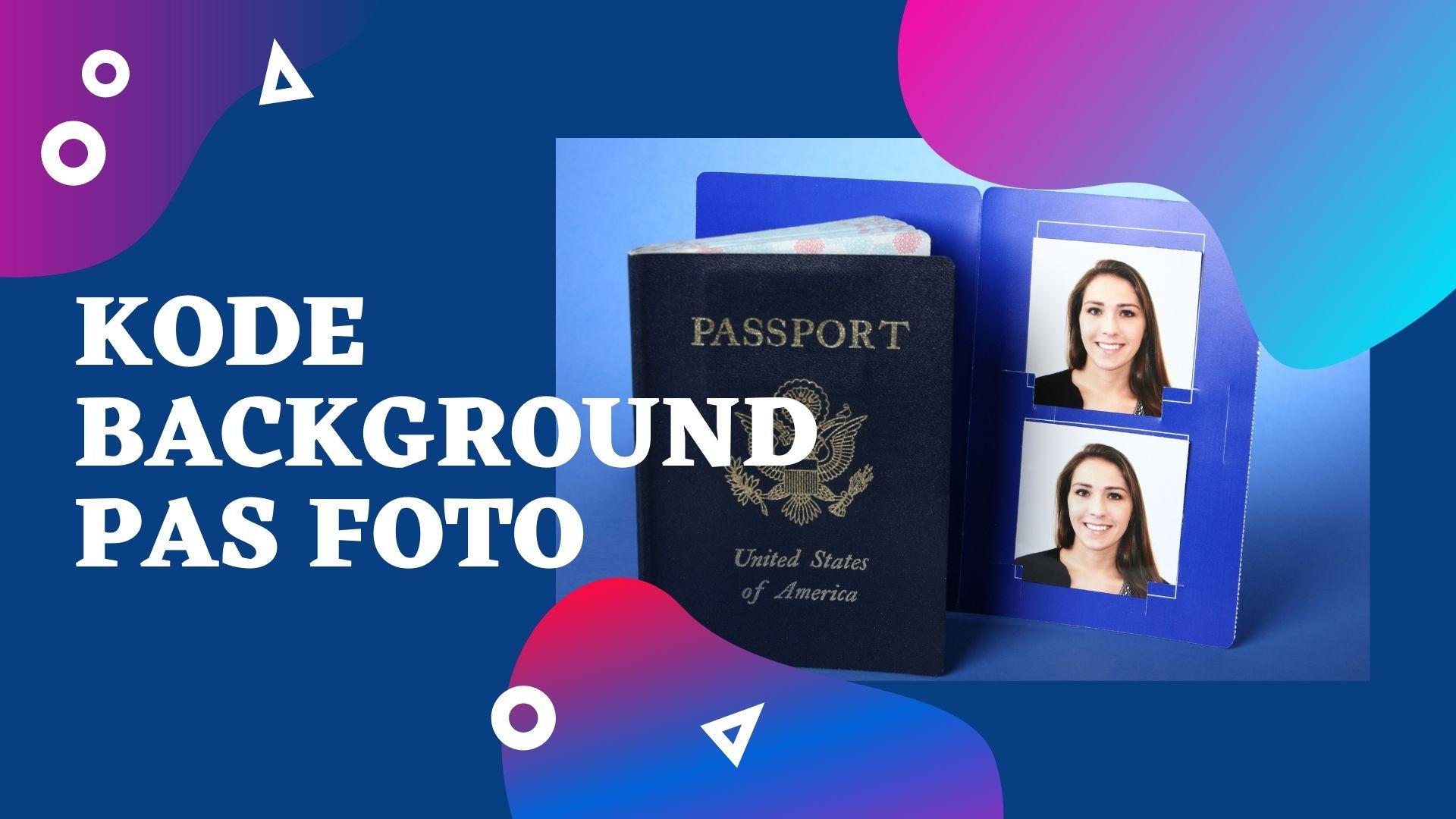 Kode Warna Background Pas Foto Biru Dan Merah