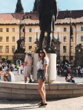 In front of Prague Castle