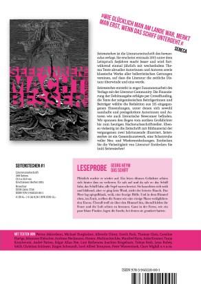 """Literaturtipp von Florian L. Arnold: Das neue Literaturmagazin """"Seitenstechen"""", Ausgabe 1"""
