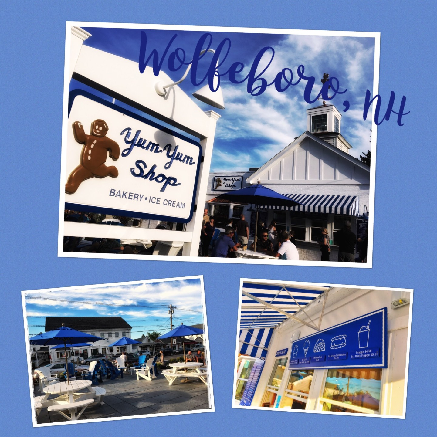 Wolfeboro, Yum Yum Shop, Lake Winnipesaukee tour