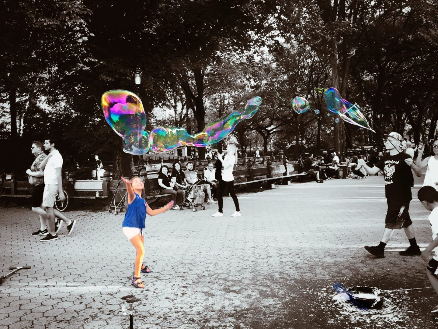 Central Park and Magic with Bubbles