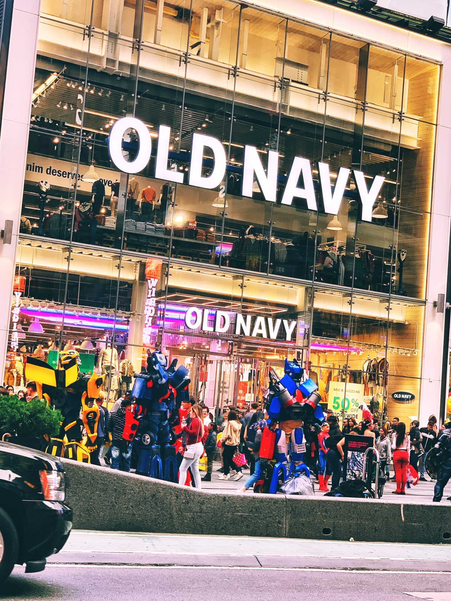 Transformers in Times Square